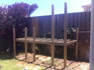 Cubby /Decking framework