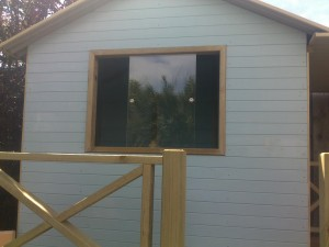 Cubby house sliding windows
