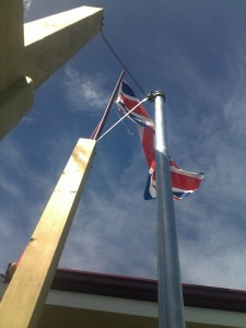 Firemans pole and Flagpole