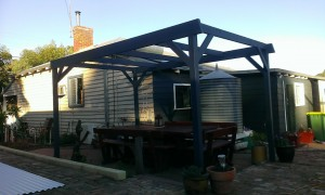 Framework for Flat patio Painted