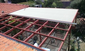Graded roof battens and shadecloth