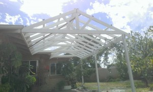 Twin Gable Patio Framework