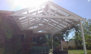 Twin gable Patio .Open Gable end