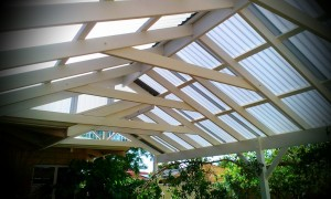 Gable Patio Underside of roof