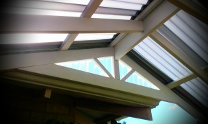 Gable Patio end with clear polycarbonate infill