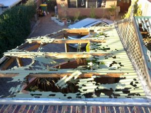 Storm damaged patio repairs