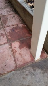 Replaced rusted patio post