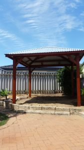 Gazebo frame and zincalume roof