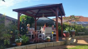 Happy clients enjoying their new Gazebo