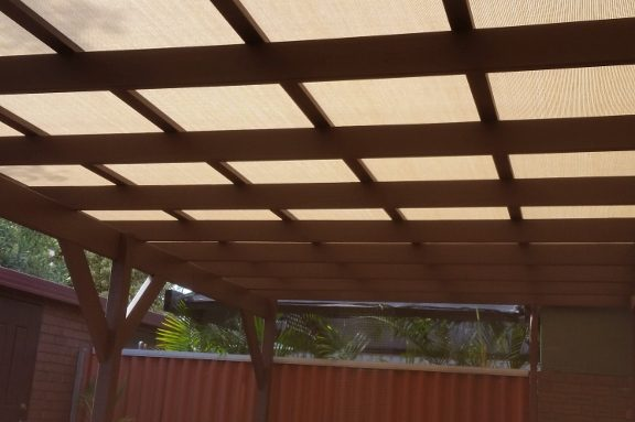 Damaged shadecloth pergola repair after
