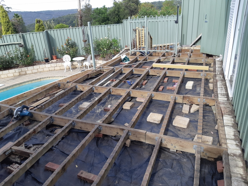 Decking frame work