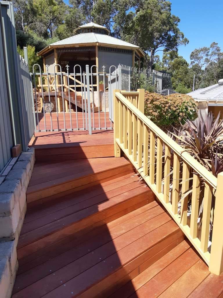 New merbau decking steps and handrails
