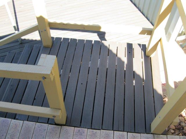 Old Decking Steps and Handrails