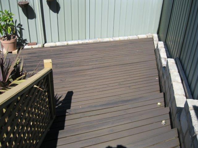 Old pine decking