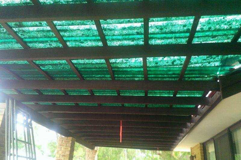 Patio builders roofing before