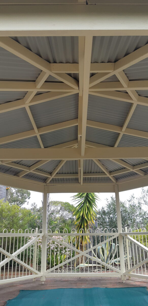 Installation of Gazebo roof and Flashings